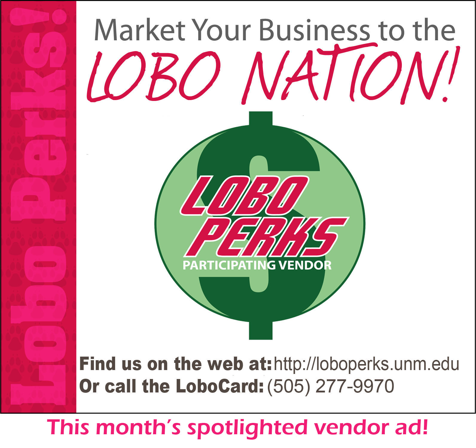 Listing Preview Page Lobo Perks The University Of New